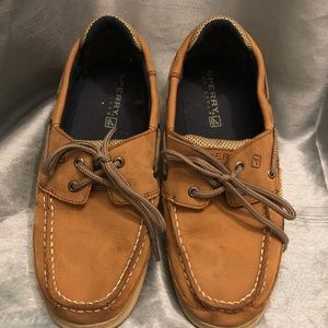 Sperry Top Side brown shoes size 5